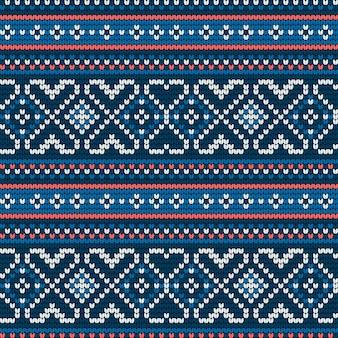 Традиционный узор для вязания ugly sweater