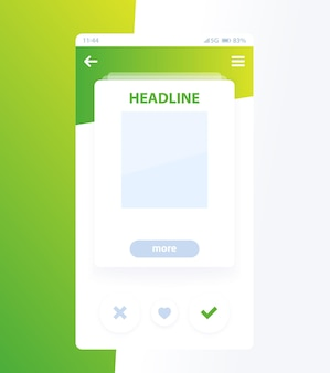 Ui card for mobile app design