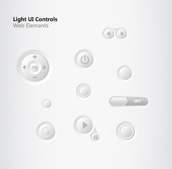 Ui controls play on/off vector set