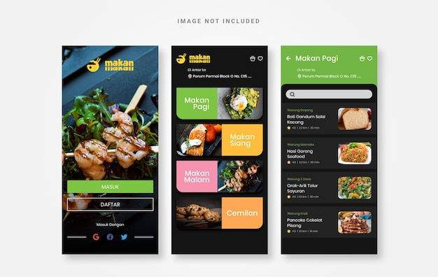 Uiデザイン食品料理アプリ