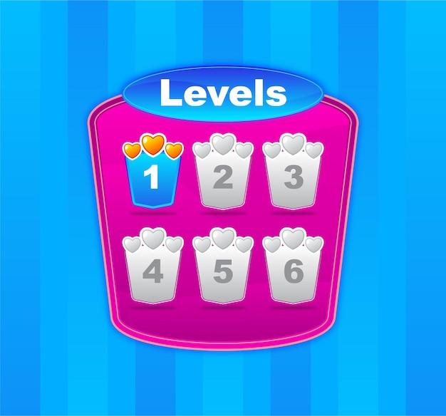 Uiデザインゲームレベルの表示テンプレート