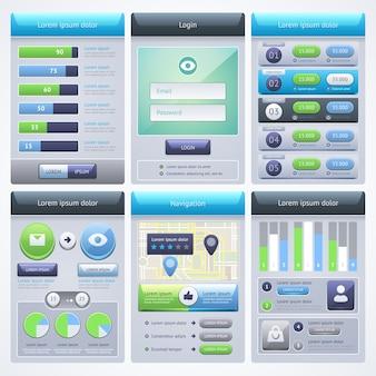 Дизайн пользовательского интерфейса. концепция мобильного веб-интерфейса.