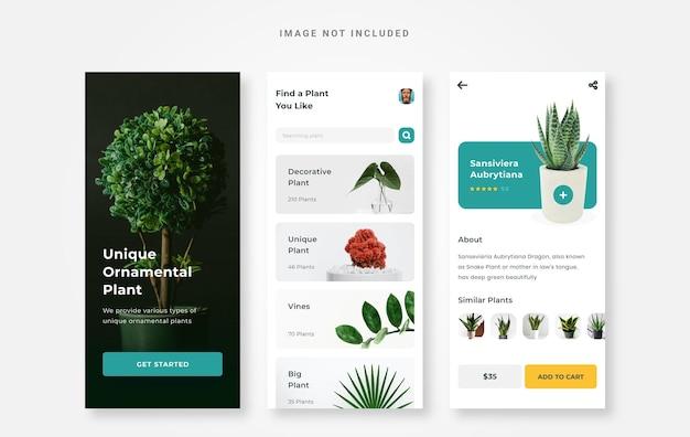 Ui design plant store app