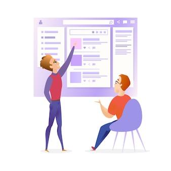Веб-сайт ui designer разработчик встреча баннер