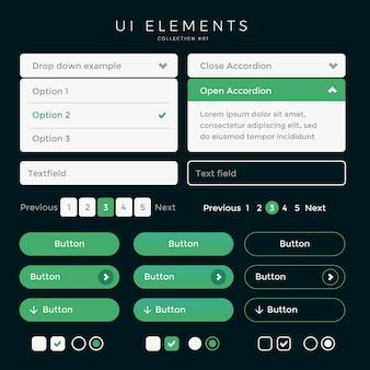 Ui elements web desing