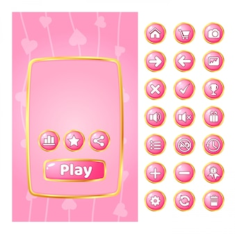 ゲームのポップアップuiには、ゴールドとguiのボタンがあります。