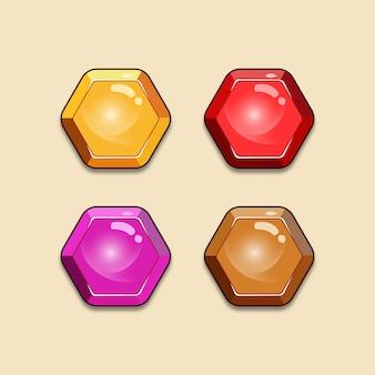 Ui hexa buttons