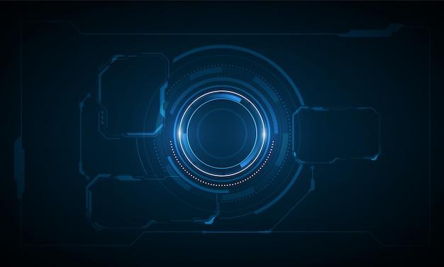 Ui hud экран технологии системы инновационный фон