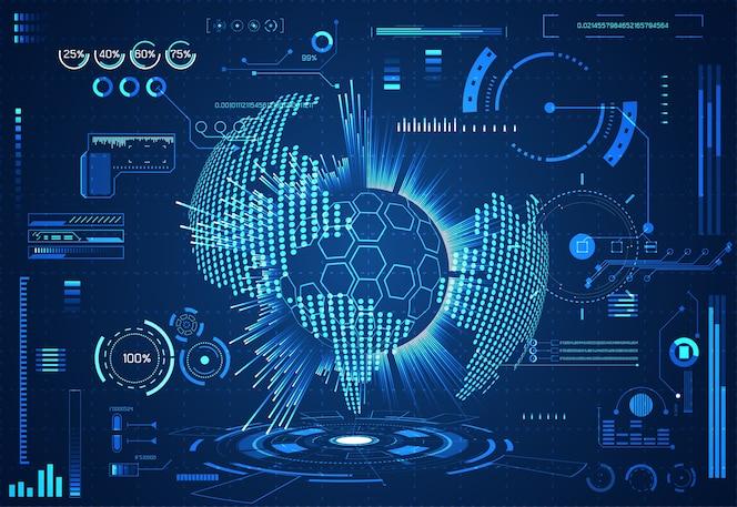 Абстрактная технология ui футуристическая концепция hud world interface hologram