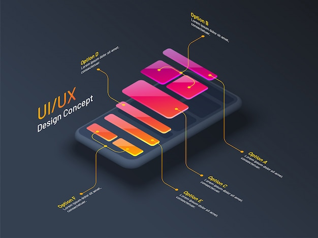 Концепция дизайна ui или ux