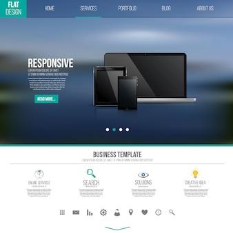 Шаблон пользовательского интерфейса с иконками