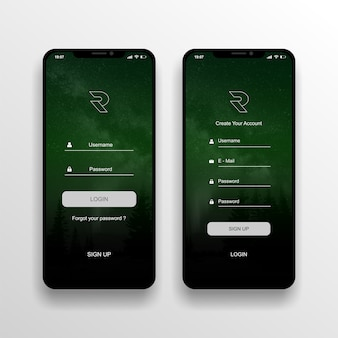 Ui/ux design aplikasi login screen