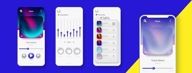 Шаблон дизайна ui / ux для музыки