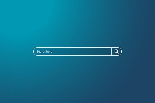 空、単純な検索ボックスフィールドのui要素の背景に検索バー