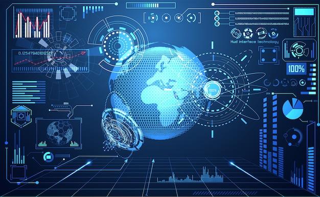 テクノロジーui未来の世界デジタル