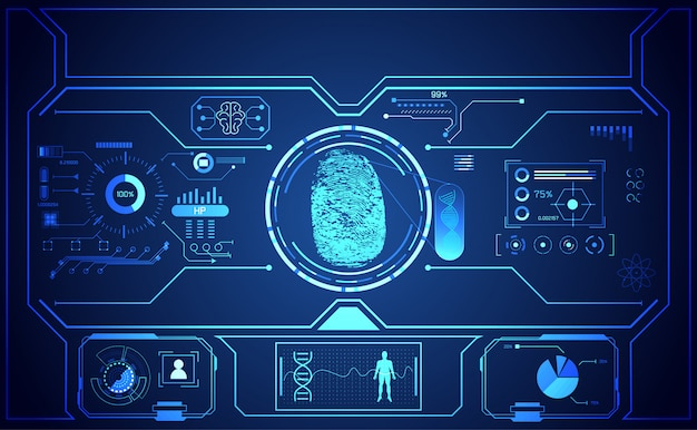 サイバーテクノロジーuiインターフェースサイバーセキュリティ