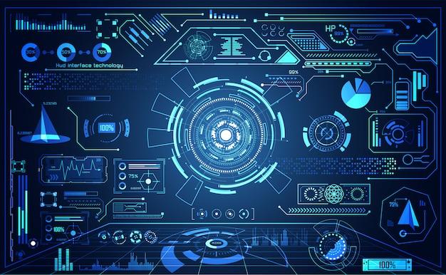 抽象的なテクノロジーの未来的なui