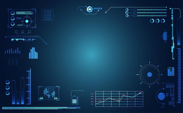 抽象的な技術のui未来的なハッドインターフェイス