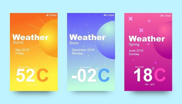 天気uiデザインテンプレート