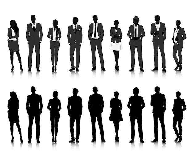 ベクトルuiのイラストビジネスの人々の概念