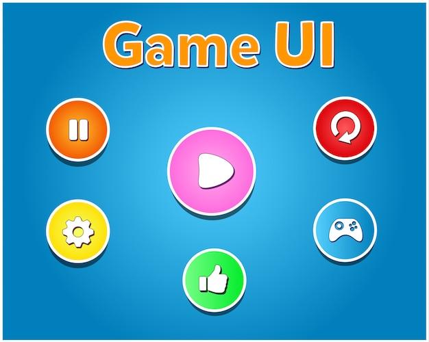 モバイルゲーム用のボタン詳細ui