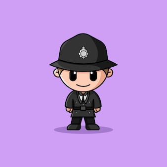 Uk police officer logo character mascot