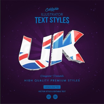 Uk text style