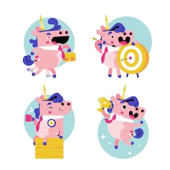 Ukko the unicorn sticker collection