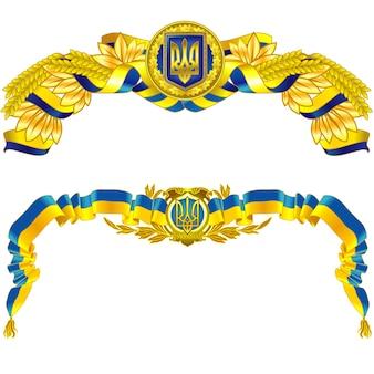 Государственный символ украины в синем и желтом цветах