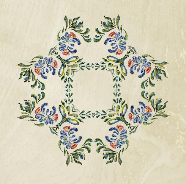 Ukrainian blue wreath.