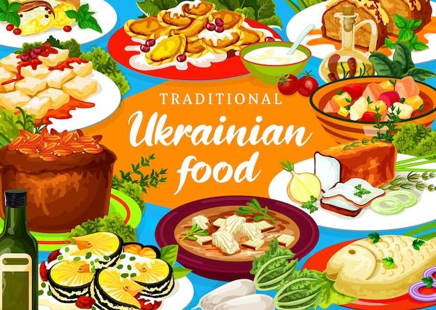 Украинская кухня заколотая курица, лапша и херсонская юшка. киевская сельдь, щука