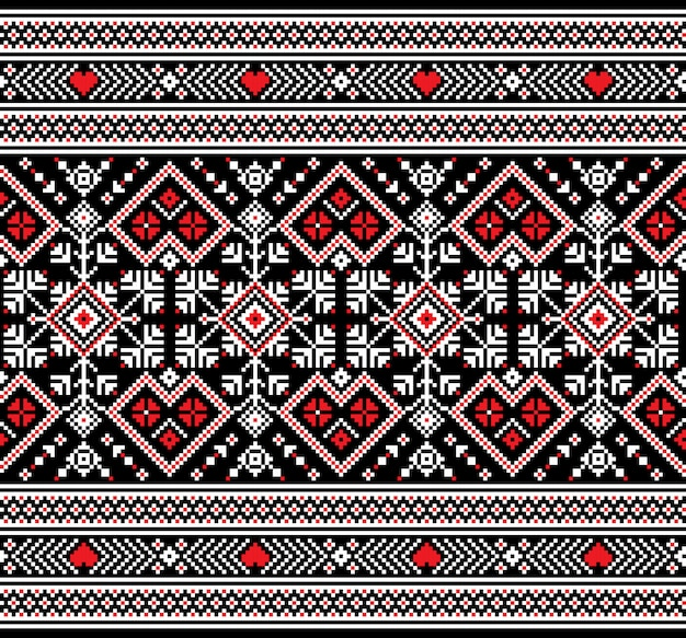 Ukrainian folk seamless pattern ornament