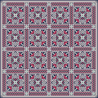 Ukrainian folk seamless pattern