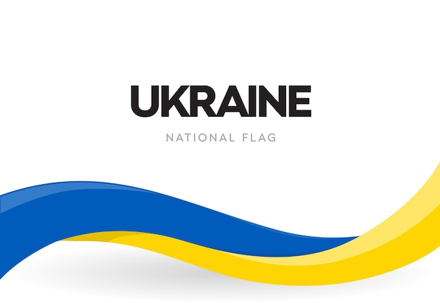 Ukrainian waving flag