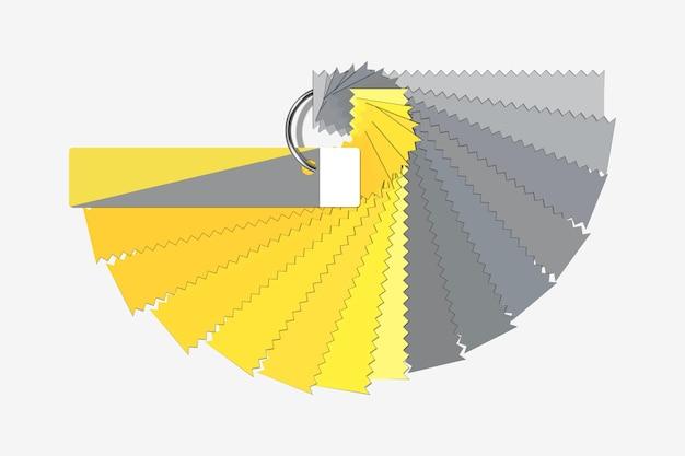 Ultimate gray and illuminating colors Premium Vector