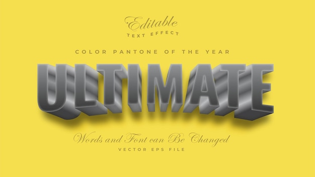 Ultimate grey color pantone 2021 text effect