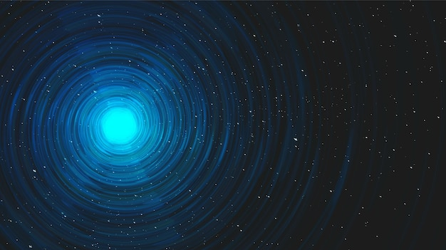 Ultra blue light spiral black hole on galaxy background.