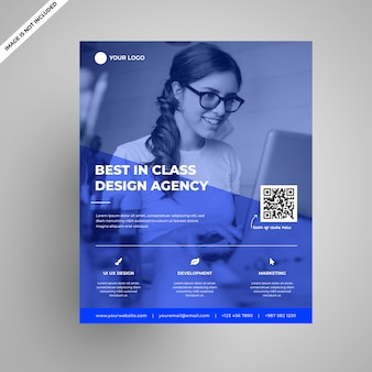 Ultra modern design agency flyer