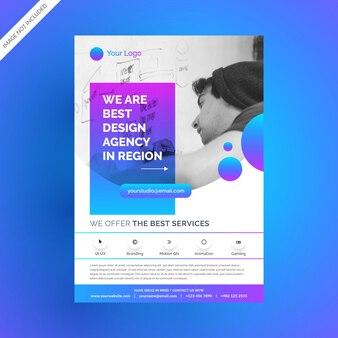 Ultra modern gradient corporate flyer