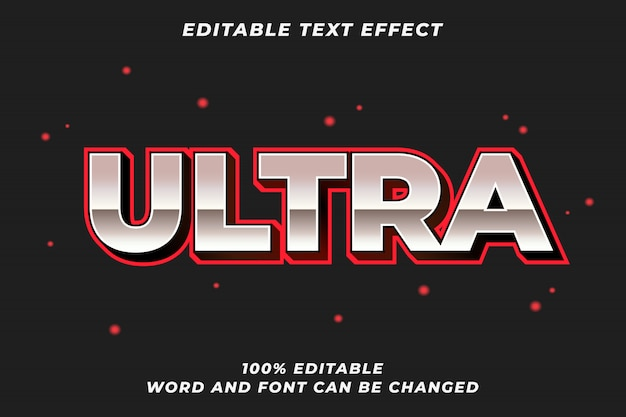 Ultra party text style effect