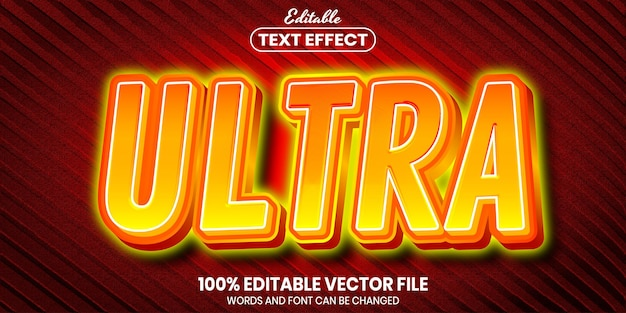 Ultra text, font style editable text effect