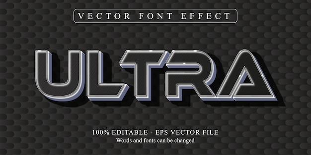 Ultra text, neon style editable text effect