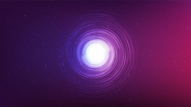 Ultra violet black hole on galaxy background.planet and physics concept design,vector illustration.