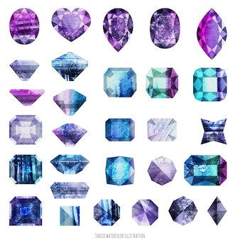 Ultra violet and purple gems
