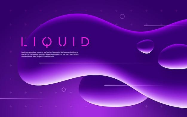 Ультрафиолетовый футуристический дизайн с неоновыми жидкими пузырьками