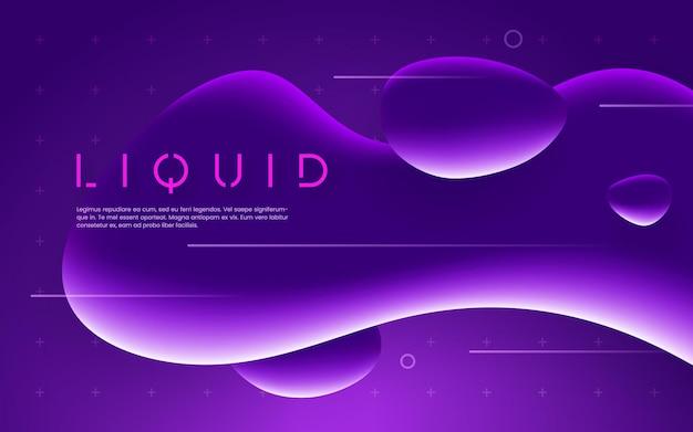 Ultraviolet futuristic design with neon liquid bubble shapes