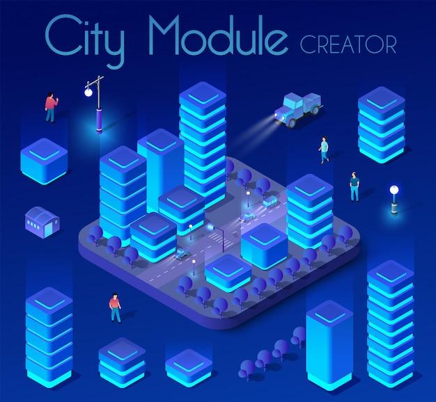 Ultraviolet isometric city