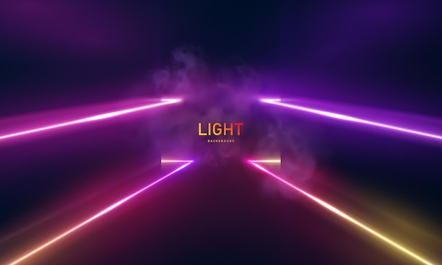 Ultraviolet vivid hues neon lights abstract psychedelic background 3d vector