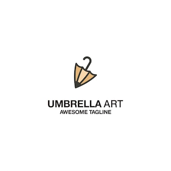 Umbrella art logo template design