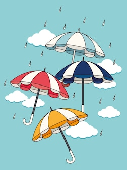 Umbrella design, vector illustration.